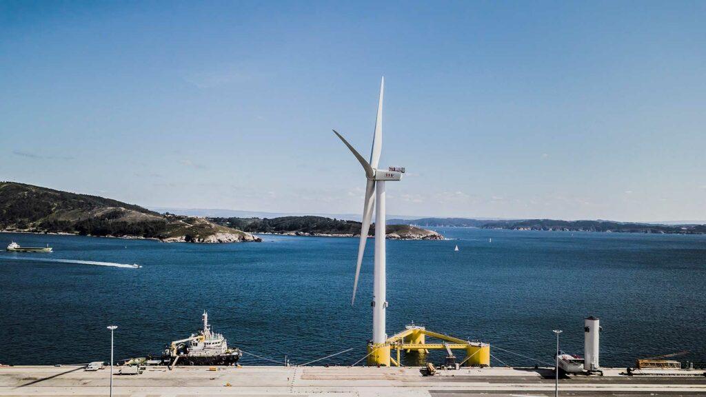 Floating offshore wind port