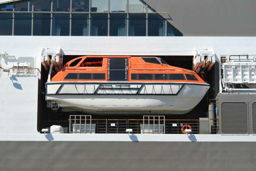 Life boat on bigger ship