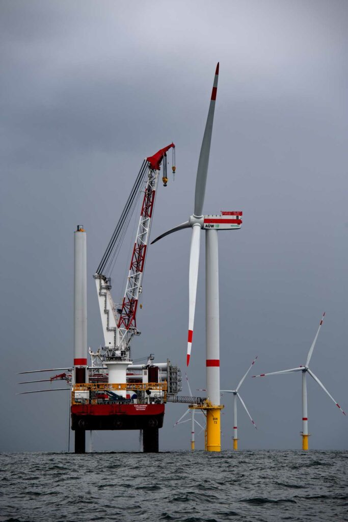 Offshore wind construction